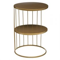 "Table d'Appoint Design Métal ""Kobu"" 36cm Or"
