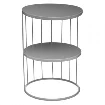 "Table d'Appoint Design Métal ""Kobu"" 36cm Gris"