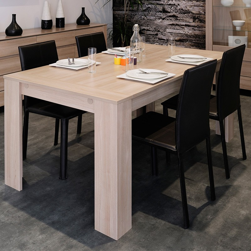 table de repas arthur bois clair. Black Bedroom Furniture Sets. Home Design Ideas
