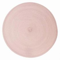 "Set de Table Rond ""Tressé"" 38cm Rose"