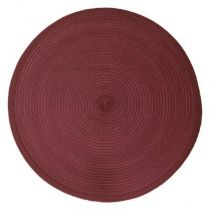 "Set de Table Rond ""Tressé"" 38cm Bordeaux"