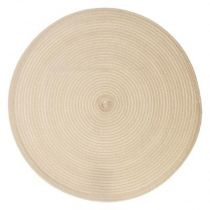 "Set de Table Rond ""Tressé"" 38cm Beige"