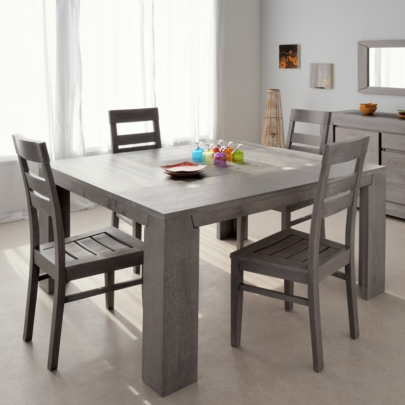 table de repas carr e spark 140cm gris. Black Bedroom Furniture Sets. Home Design Ideas