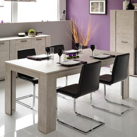 "Table de Repas ""Boston"" Gris"