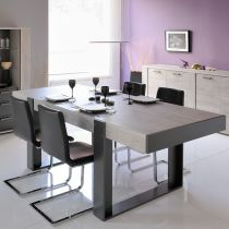 "Table de Repas Arches ""Boston"" 223cm Gris"