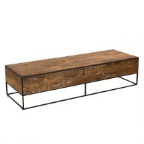 "Table Basse Rectangulaire ""Wangle"" 150cm Naturel"