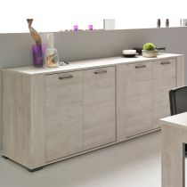 "Buffet 4 Portes ""Boston"" Gris"