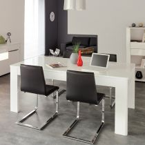 "Table de Repas ""Soft"" 229cm Blanc"