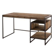 "Bureau 1 Niche & 1 Tablette ""Wangle"" 140cm Naturel"