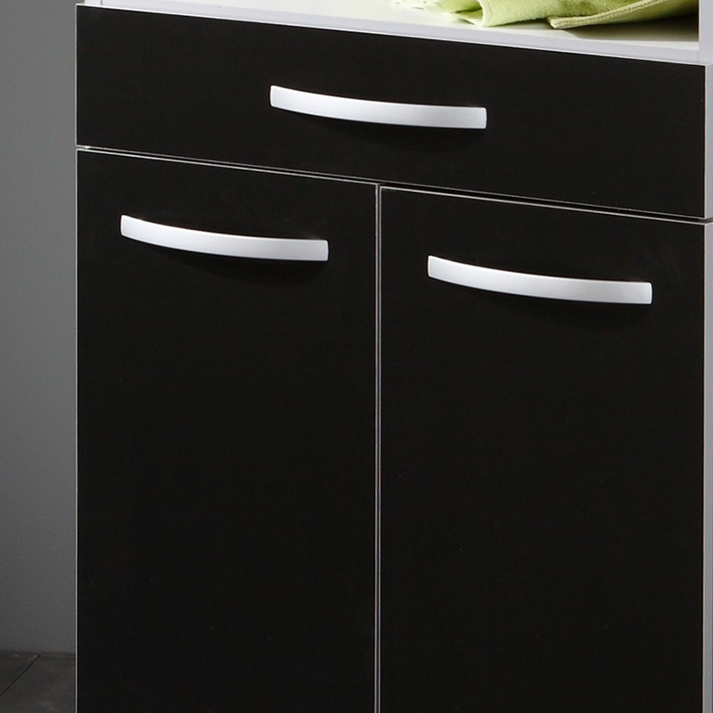 desserte de cuisine smarty noir. Black Bedroom Furniture Sets. Home Design Ideas