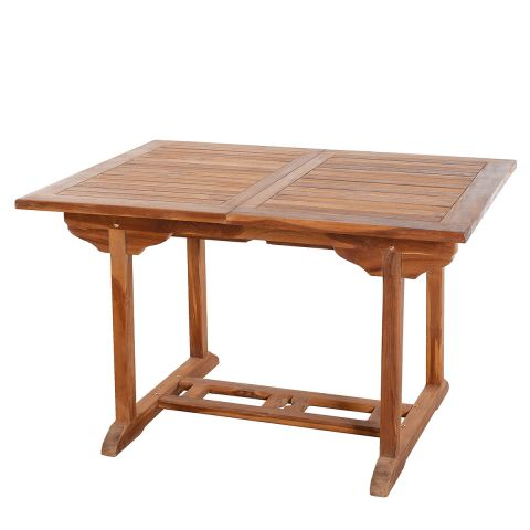 "Table de Jardin Extensible ""Troxi"" 120-180cm Naturel"