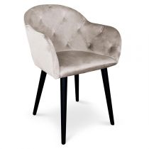"Fauteuil Design en Velours ""Glany"" 81cm Taupe"