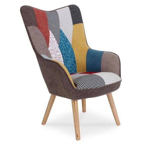 "Fauteuil Design Patchwork ""Artic"" 100cm Multicolore"