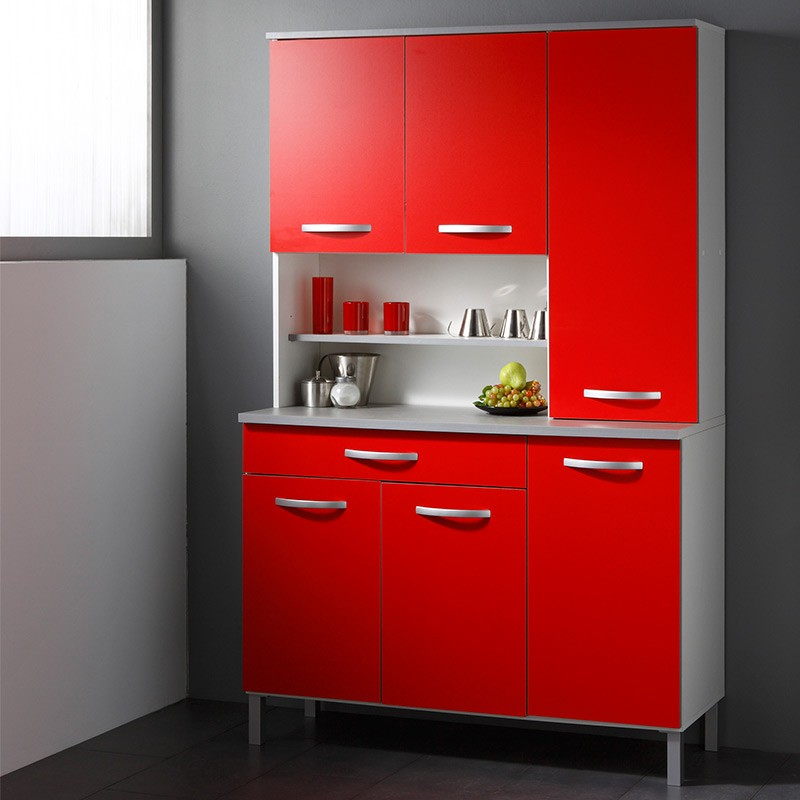 buffet de cuisine smarty 120cm rouge. Black Bedroom Furniture Sets. Home Design Ideas