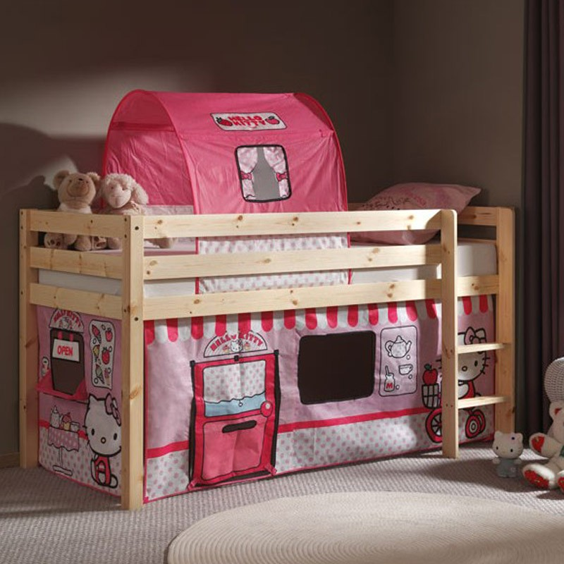 tente tunnel pour lit hello kitty. Black Bedroom Furniture Sets. Home Design Ideas