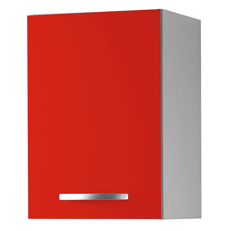 Meuble haut 1 porte 40cm smarty rouge for Meuble porte rouge