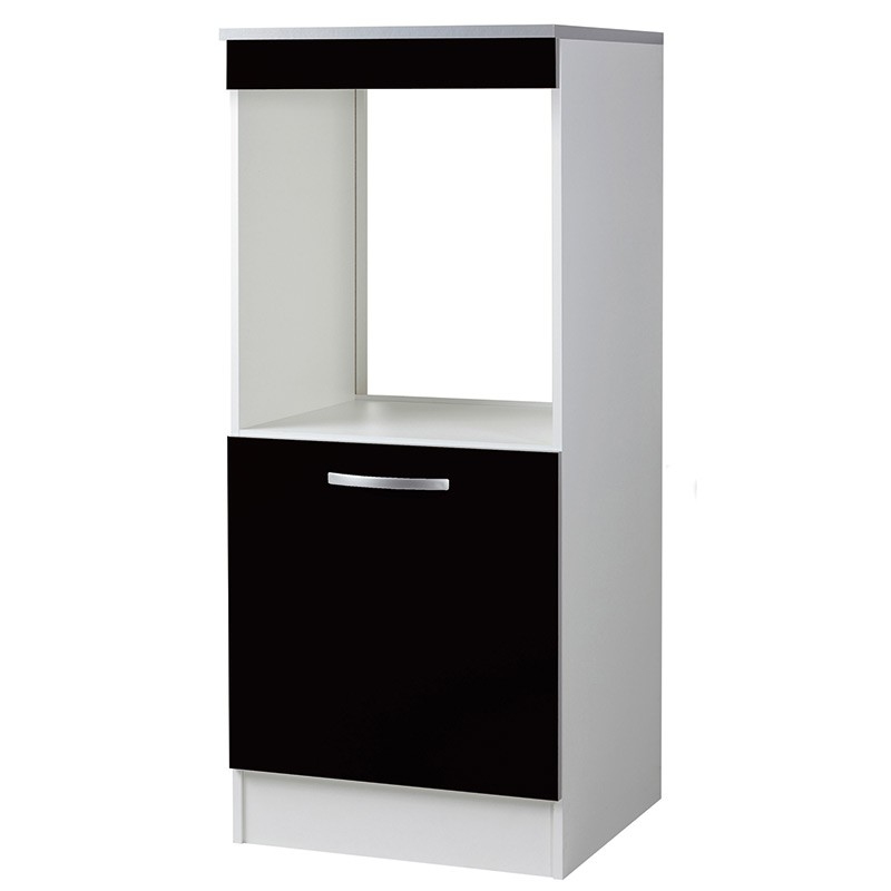 demi colonne four 60cm smarty noir. Black Bedroom Furniture Sets. Home Design Ideas