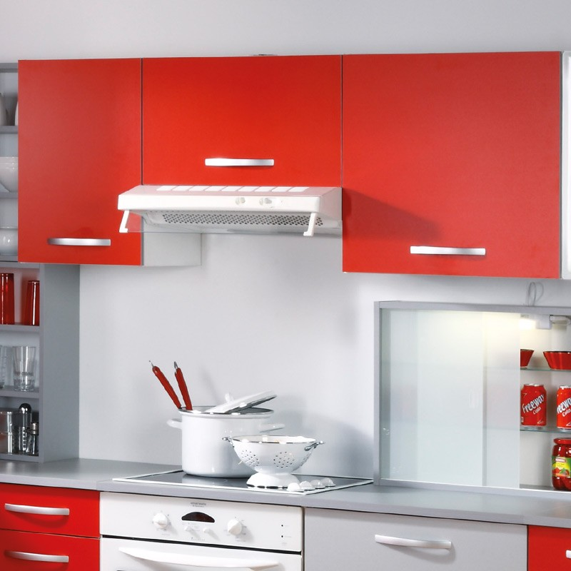 Meuble haut 1 porte 60cm smarty rouge for Meuble porte rouge