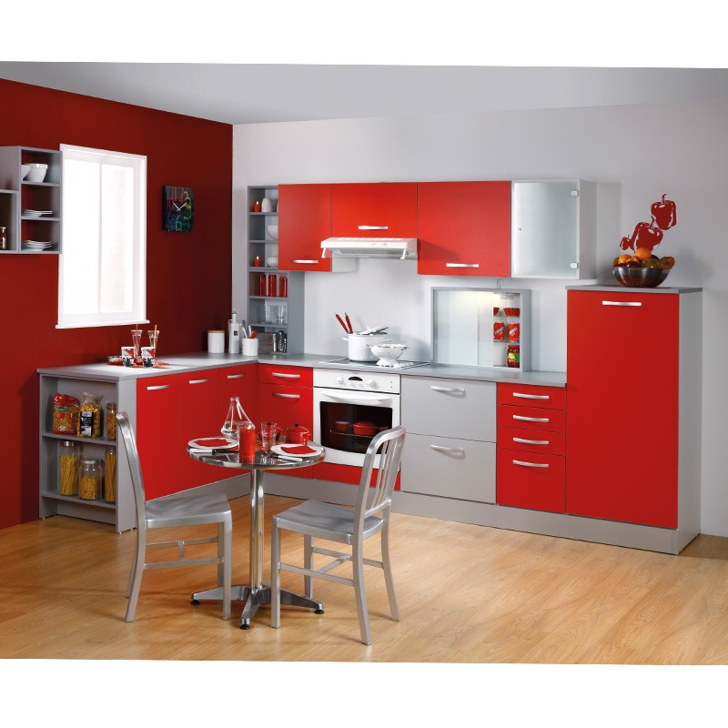 meuble haut d 39 angle 1 porte 60cm smarty rouge. Black Bedroom Furniture Sets. Home Design Ideas