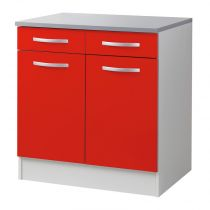 "Meuble Bas 80cm ""Smarty"" Rouge"