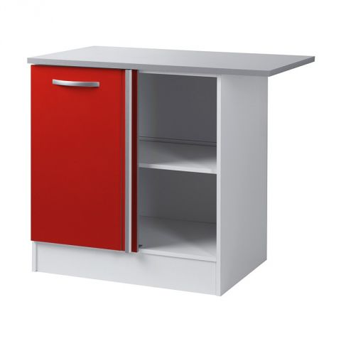 "Meuble Bas d'Angle 100 cm ""Smarty"" Rouge"