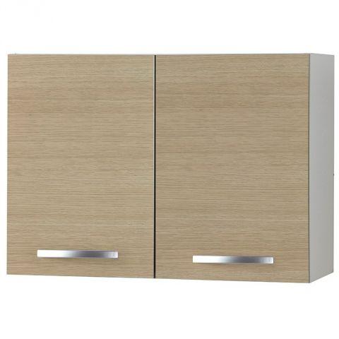 "Meuble Haut 2 Portes 80cm ""Smarty"" Naturel"