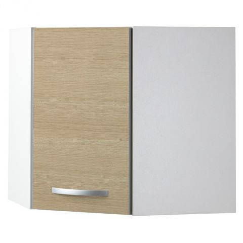 "Meuble Haut d'Angle 1 Porte 60cm ""Smarty"" Naturel"