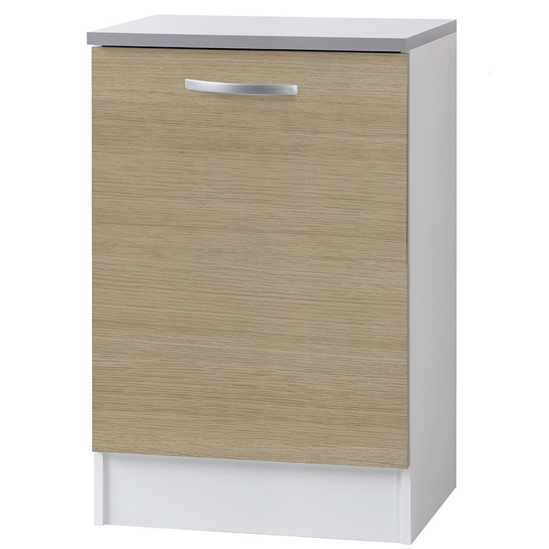 Meuble bas 1 porte 60cm smarty naturel for Meuble a bas prix chateauguay