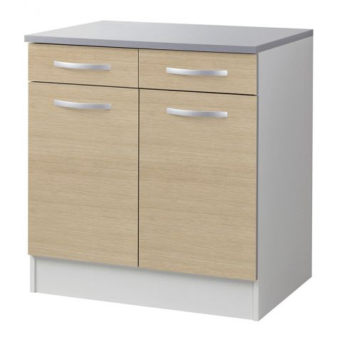 Meuble bas 80cm smarty naturel for Meuble a bas prix