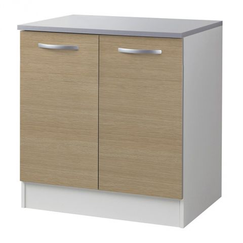 "Meuble Bas 2 Portes 80cm ""Smarty"" Naturel"