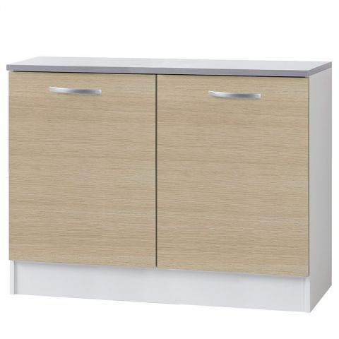 "Meuble Bas 2 portes 120cm ""Smarty"" Naturel"