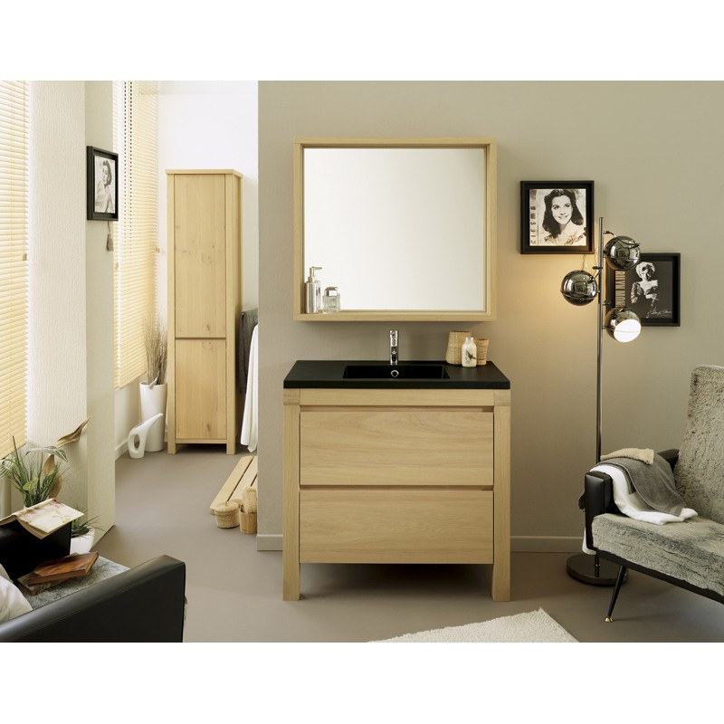 ensemble meuble vasque miroir antalya naturel. Black Bedroom Furniture Sets. Home Design Ideas