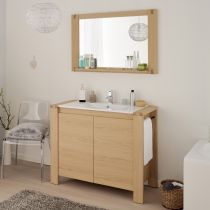 "Ensemble Meuble Vasque & Miroir ""Galéo"" Naturel"