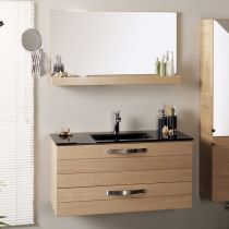 "Ensemble Meuble Vasque & Miroir ""Jumbo"" Naturel"