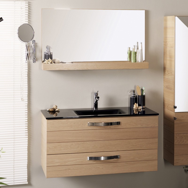 Ensemble Meuble Vasque  Miroir Jumbo Naturel