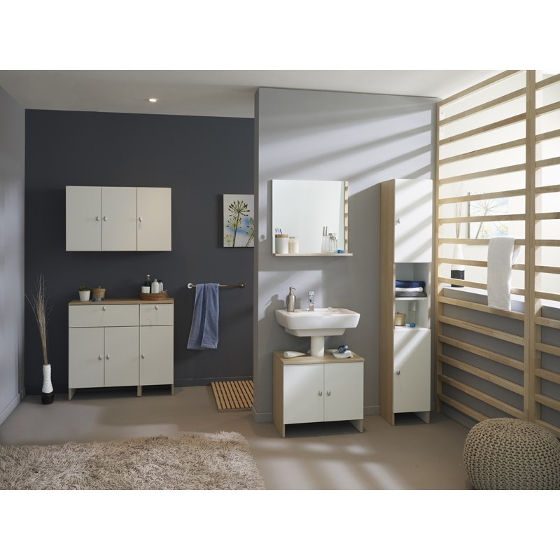 meuble haut 2 portes riga bois clair. Black Bedroom Furniture Sets. Home Design Ideas