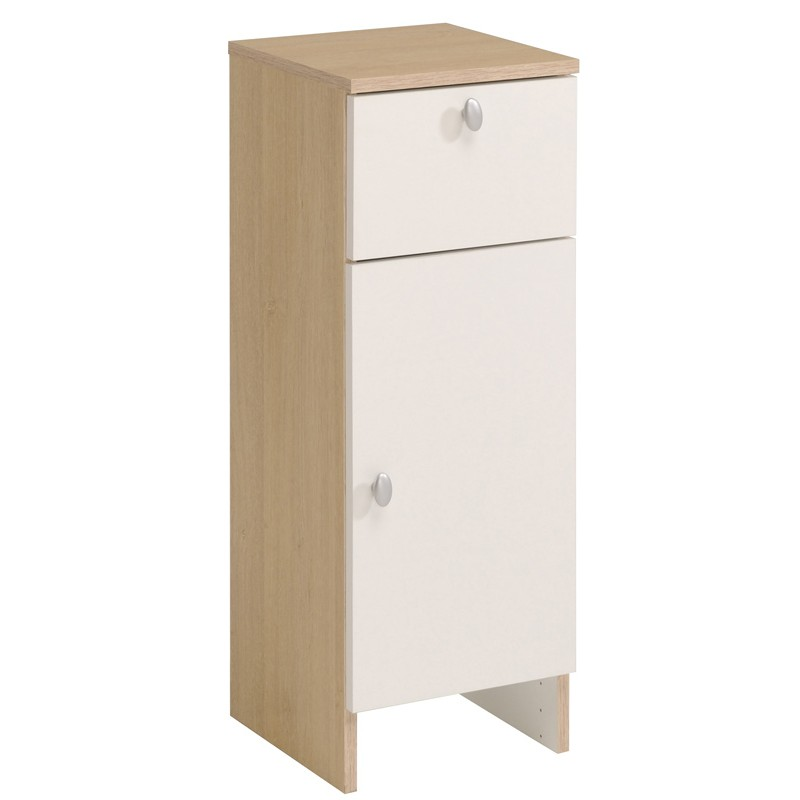 Meuble bas 1 porte riga weng for Meuble a porte