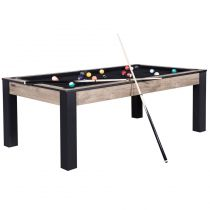 "Table de Billard Convertible ""State"" 213cm Noir & Naturel"