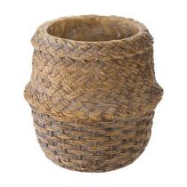 "Cache-Pot en Ciment ""Seagrass"" 14cm Naturel"