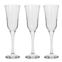 "Lot de 3 Flûtes à Champagne ""Flavie"" 19cl Transparent"