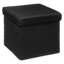 "Pouf Carré Design ""Mix N'Modul"" 31cm Noir"