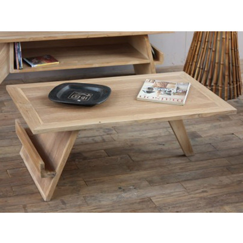 Table basse pokara beige - Table basse laquee beige ...