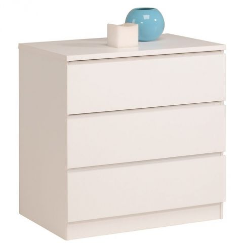 "Commode 3 Tiroirs ""Lisa"" Blanc"