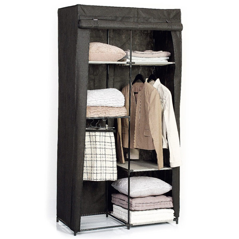 armoire dressing modulable noir black bedroom furniture. Black Bedroom Furniture Sets. Home Design Ideas
