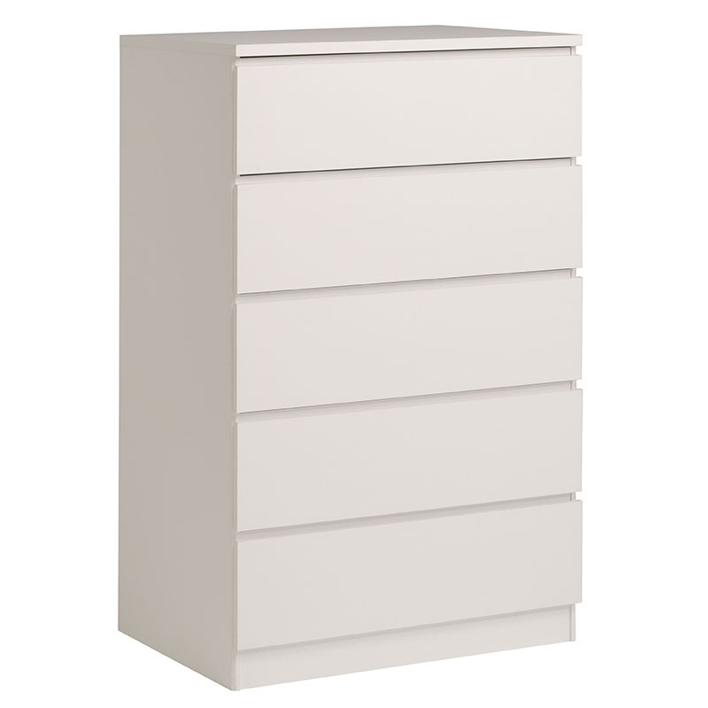 Commode 5 tiroirs lisa blanc - Commode 5 tiroirs blanc ...