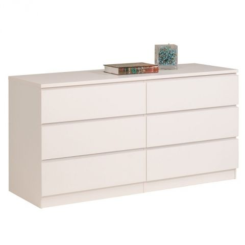 "Commode 6 Tiroirs ""Lisa"" Blanc"