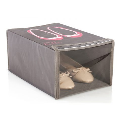 """Boîte de Chaussures Polyester """"Elle"""" Taupe"""