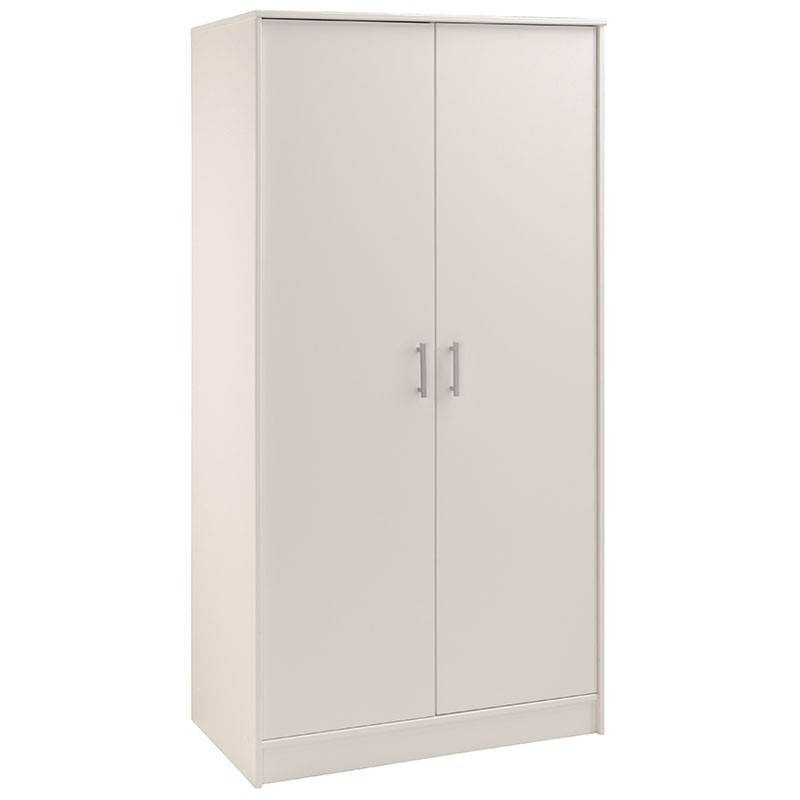 armoire penderie 2 portes galaxy blanc. Black Bedroom Furniture Sets. Home Design Ideas