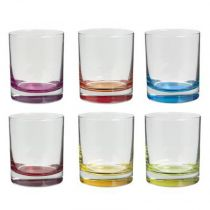 "Lot de 6 Verres à Eau ""Colori"" 9cm Multicolore"
