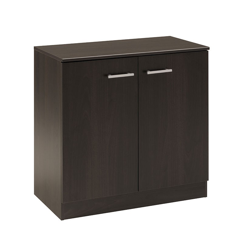 meuble de rangement bas 2 portes galaxy caf. Black Bedroom Furniture Sets. Home Design Ideas